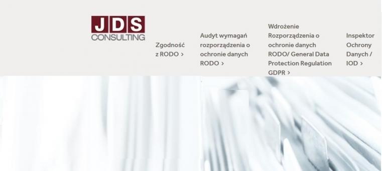 JDS Consulting - Twój Partner w ochronie danych osobowych - audyty RODO, pełnienie funkcji IOD, doradztwo