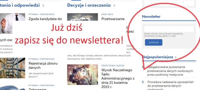 newsletter odoserwis.pl